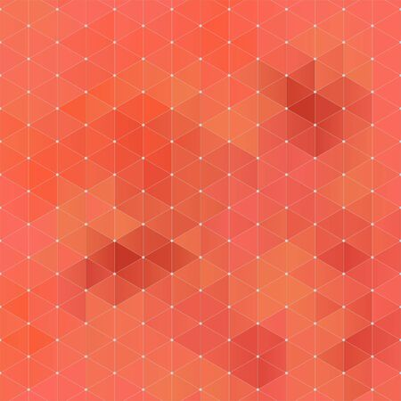 rumpled: Orange abstract geometric rumpled triangular background low poly style. Vector illustration