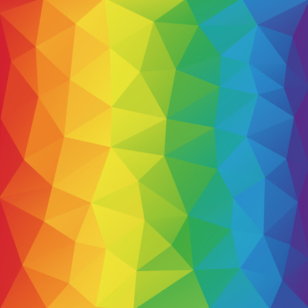rumpled: Color spectrum abstract geometric rumpled triangular background low poly style.