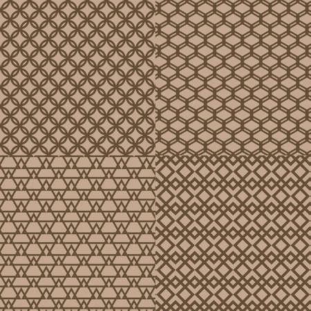 trellis: Seamless brown trellis pattern background, Vector illustration