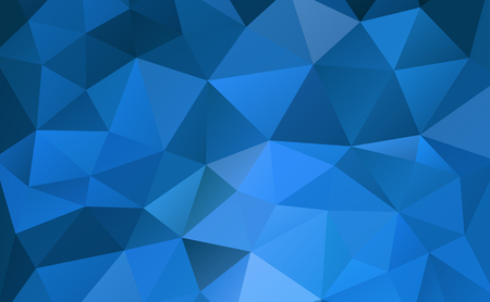Blue abstract geometric rumpled triangular background low poly style. Vector illustration Ilustrace