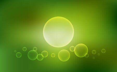 bubbles vector: Abstract blurred background with bubbles, Vector illustration