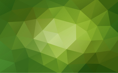 rumpled: Green abstract geometric background, rumpled triangular, low poly style. Vector illustration