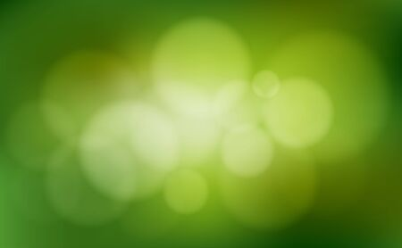 Green abstract blurred bokeh background. Vector illustration