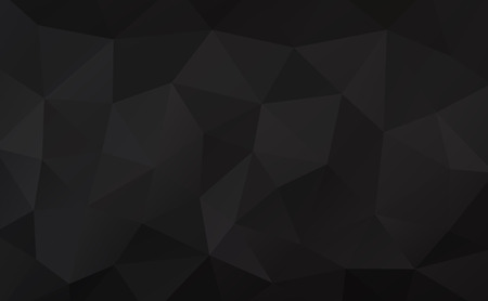 rumpled: Black abstract geometric rumpled triangular background low poly style. Vector illustration Illustration