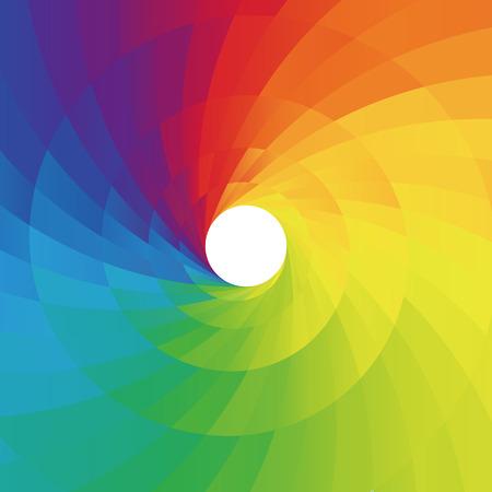 Fondo espiral estilo de bajo poli colorido abstracto, ilustración vectorial