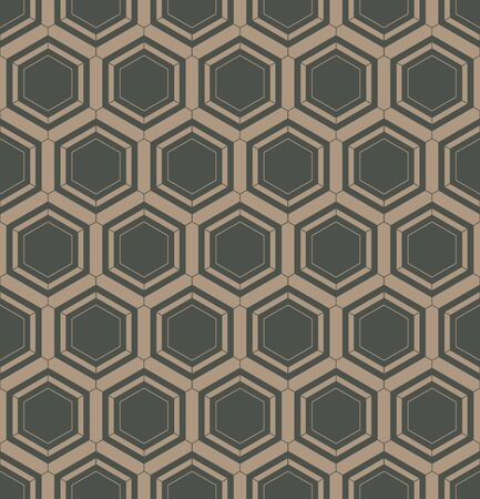swatches: Abstract geometric linear hexagons seamless pattern background, illustration with swatches Illustration