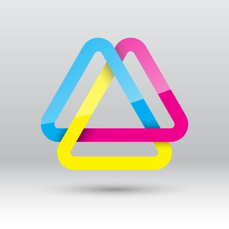 a loop: Abstract triangle loop icon, illustration Illustration