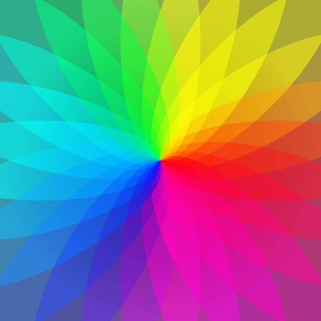 magenta: Color wheel abstract geometric stripes background Illustration