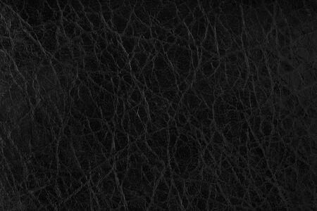 Black leather texture background surface closeup
