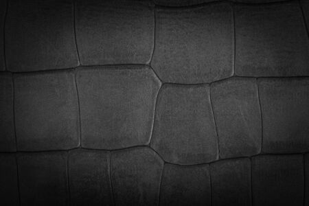 Luxury black leather texture background with vignette