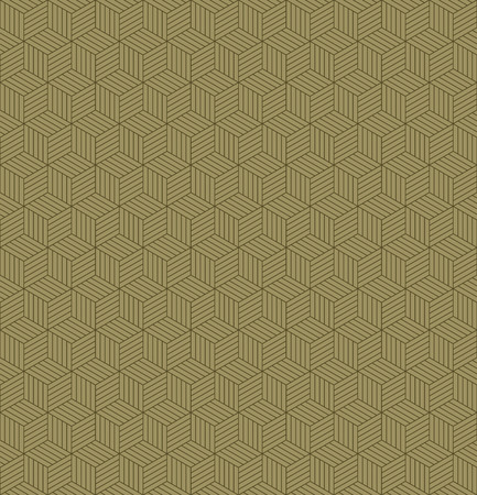 Abstract geometric line shape hexagon square cube seamless patterns background, illustration with swatch