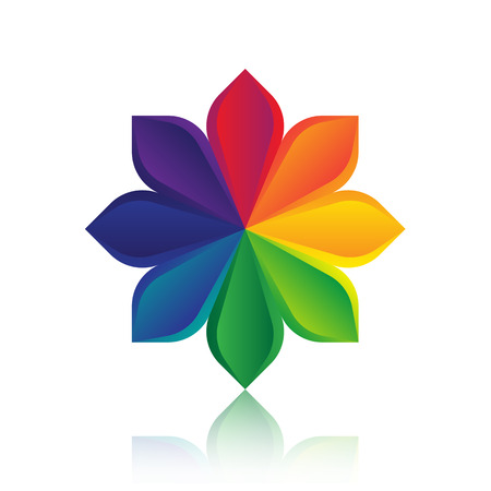 Abstract colorful flower template design illustration