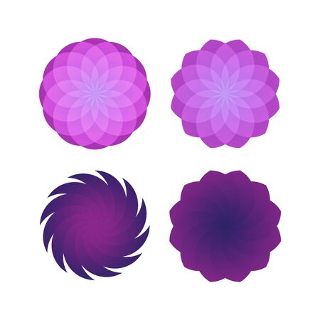 Abstract pink geometric set template design illustration Ilustrace