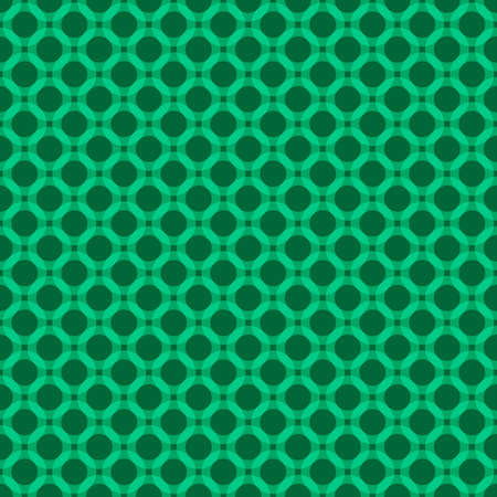 Green abstract geometric circle seamless pattern textured background