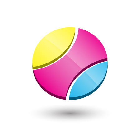 Abstract circle 3d icon