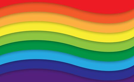 Abstract rainbow curve background