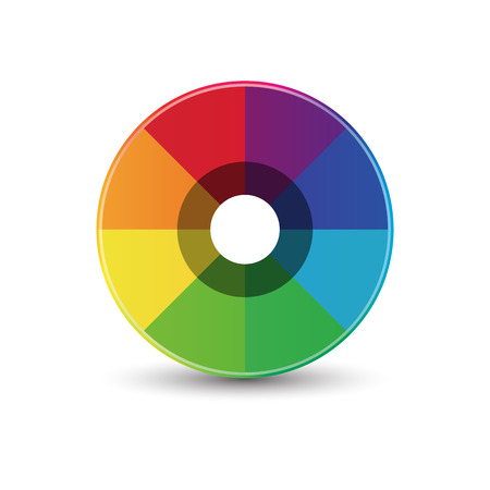 rainbow abstract: Abstract rainbow circle icon template design Illustration