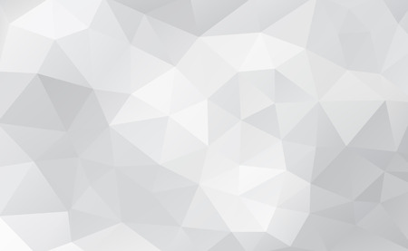 White abstract geometric rumpled triangular background low poly style
