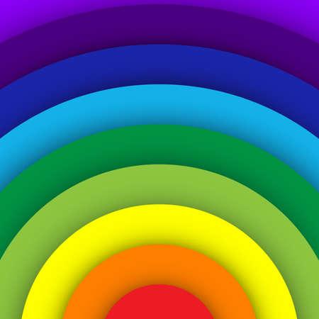 rainbow abstract: Abstract rainbow curve background