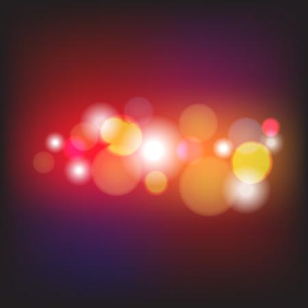 Abstract Light Bokeh Background, Vector Illustration  Ilustrace