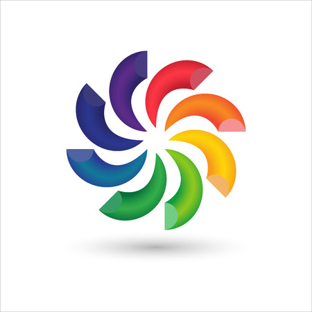 Abstract circle colorful 3d logo icon design, Vector illustration Ilustrace