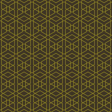 Abstract geometric line hexagon seamless pattern background,  illustration with swatches