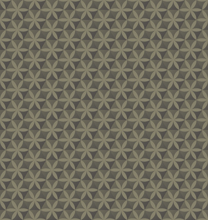 Abstract geometric hexagon and geometric floral seamless pattern background, Vector illustration