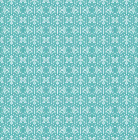 Snowflake seamless pattern background, Vector illustration eps10 with swatches Ilustrace