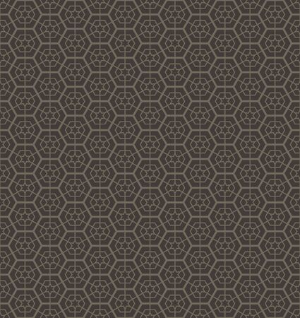 Abstract geometric line star hexagon seamless pattern background, Vector illustration with swatches