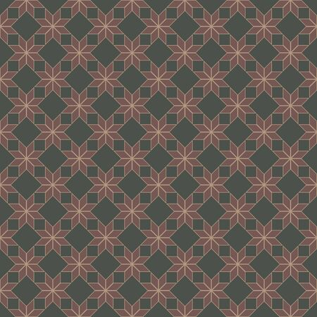 Abstract geometric seamless pattern background, Vector illustration with swatch