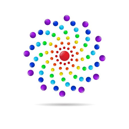 Abstract circle dots 3d logo icon, Vector illustration
