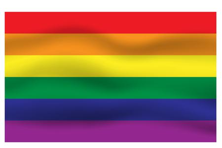 Rainbow flag movement background, LGBT pride flag, Horizontal stripes icon, Vector illustration eps10 Ilustrace