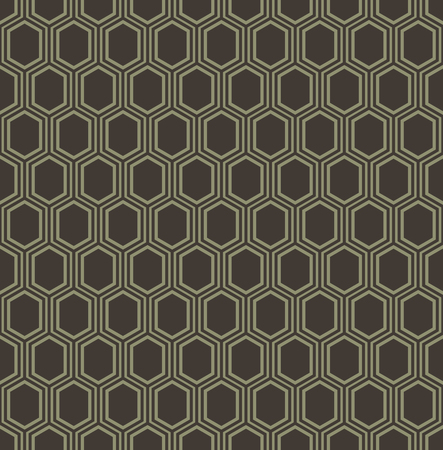 Abstract geometric line hexagon seamless pattern background, Vector illustration with swatches