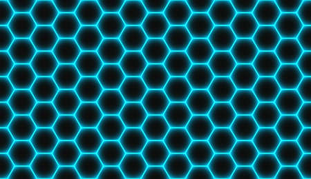 Abstract geometric blue hexagon seamless pattern background. Vector illustration eps10