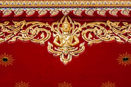 Decoration of buddhist church, Thailand Stock Photo - 19373394