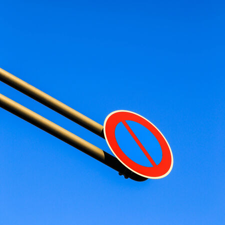 overhang: Over-Hang Traffic Sign with Blue Sky