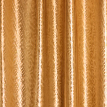 shiny gold: Close up Texture of Shiny Gold Fabric Curtain Stock Photo