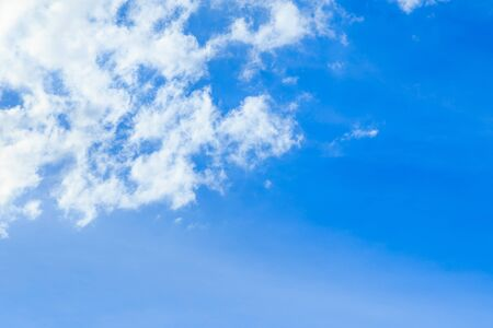 Abstract blue sky background and white clouds in sunny day with skyspace Stok Fotoğraf - 131995597