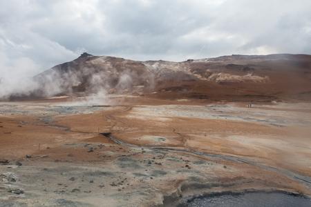 pot hole: Iceland, Namafjall geothermal area. Mystical place