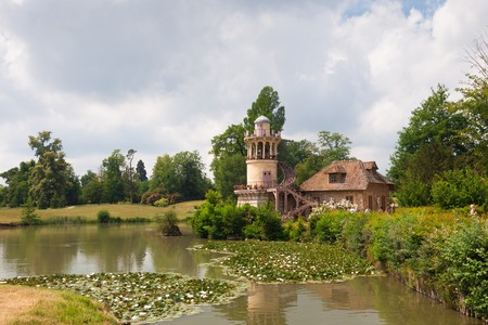 Marlborough tower in the village of Marie Antoinette in the park of Versailles palace, France