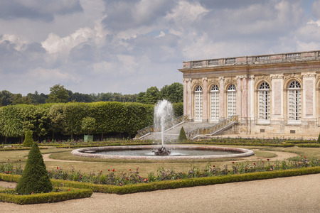 Grand Trianon in the park of Versailles, France Editorial