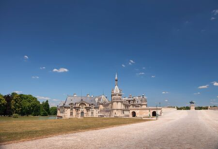 chantilly: View of the Castle of Chantilly, France