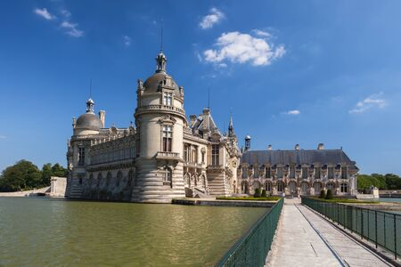 chantilly: Bridge to the Castle of Chantilly, France Editorial