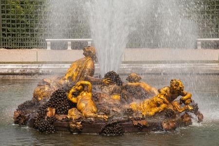 bacchus: Bacchus Fountain (Autumn fountain) in gardens of Versailles palace, Franc