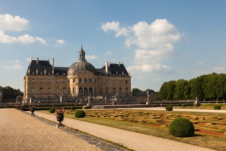 Chateau de Vaux le Vicomte ans its garden, France 新聞圖片
