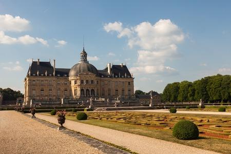 vaux: Chateau de Vaux le Vicomte ans its garden, France Editorial