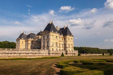 vaux: Chateau de Vaux-le-Vicomte, French palace Editorial