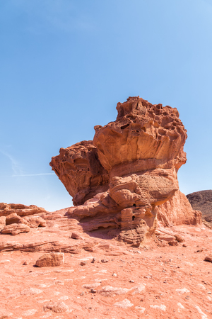 timna: Timna Park in Israel desert, sand rock of unusual shape