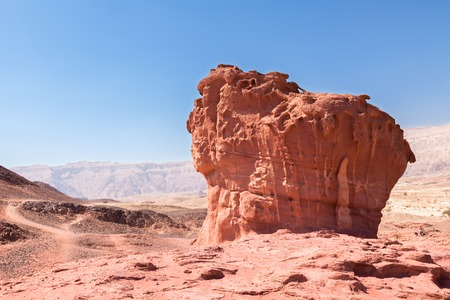 timna: Timna Park in desert, sand rock of unusual shape,  Israel