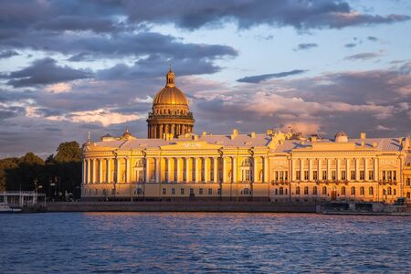 synod: Senate and Synod building, Saint Isaacs Cathedral in St. Petersburg, Russia Stock Photo